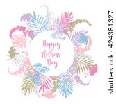 beautiful greeting card with... | Shutterstock .eps vector #424381327