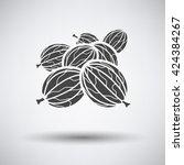gooseberry icon on gray...   Shutterstock .eps vector #424384267