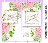 vintage delicate invitation... | Shutterstock .eps vector #424386187