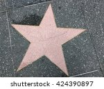 a big star on the ground | Shutterstock . vector #424390897
