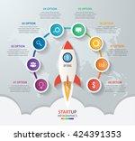 startup vector circle... | Shutterstock .eps vector #424391353