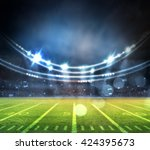 evening stadium arena soccer... | Shutterstock . vector #424395673
