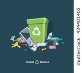 littering waste garbage that... | Shutterstock .eps vector #424401403