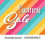 summer sale. hand lettering... | Shutterstock .eps vector #424404967