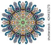 mandala flower decoration ... | Shutterstock .eps vector #424415173