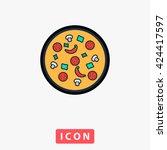 pizza icon vector.