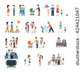 family life style concept... | Shutterstock .eps vector #424421047