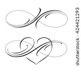 Infinity Love Icon Vector...