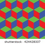 cubic background of green red...