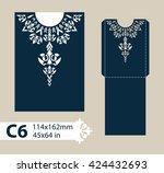 layout congratulatory envelope...   Shutterstock .eps vector #424432693
