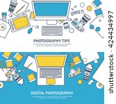 photography equipment with... | Shutterstock .eps vector #424434997