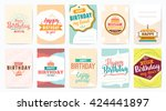 happy birthday greeting cards... | Shutterstock .eps vector #424441897