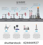 oil industry processing and... | Shutterstock .eps vector #424444927