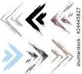 cute vector geometric pattern....   Shutterstock .eps vector #424445827