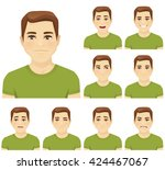 handsome young man with... | Shutterstock .eps vector #424467067
