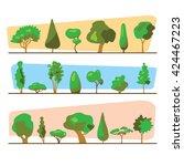 wood set illustration. trees... | Shutterstock .eps vector #424467223