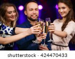 party  holidays  celebration ... | Shutterstock . vector #424470433