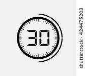 electronic timer 30 seconds | Shutterstock .eps vector #424475203