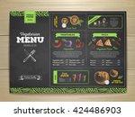 vintage chalk drawing... | Shutterstock .eps vector #424486903
