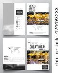 set of business templates for... | Shutterstock .eps vector #424493233
