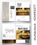 set of business templates for... | Shutterstock .eps vector #424493377