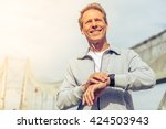 handsome middle aged man in... | Shutterstock . vector #424503943