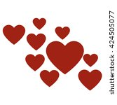 love hearts  a collection of... | Shutterstock .eps vector #424505077