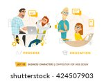business characters in circle.... | Shutterstock .eps vector #424507903