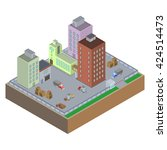 isometric vector image of a... | Shutterstock .eps vector #424514473