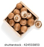 Top View Of Brown Champignon...