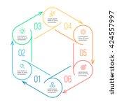 hexagon for infographics.... | Shutterstock .eps vector #424557997