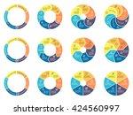 circular infographics. pie... | Shutterstock .eps vector #424560997