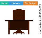 flat design icon of table and...