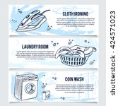 laundry banners or website... | Shutterstock .eps vector #424571023