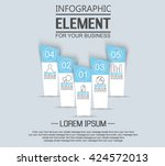 element for infographic ... | Shutterstock .eps vector #424572013