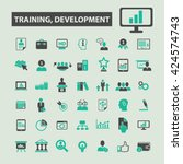 training development icons  | Shutterstock .eps vector #424574743