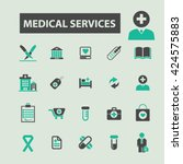 medical services icons  | Shutterstock .eps vector #424575883