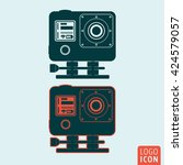 action camera icon. camera for...