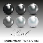 abstract background with pearls | Shutterstock .eps vector #424579483