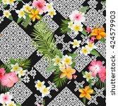 Seamless Pattern. Tropical...