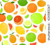 seamless pattern with bright... | Shutterstock .eps vector #424585267