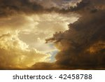 Beautiful storm clouds - stock photo