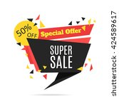 super sale and special offer... | Shutterstock .eps vector #424589617