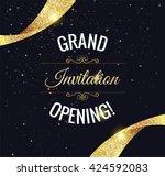 grand opening sparkling banner. ... | Shutterstock .eps vector #424592083