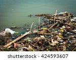 water pollution  | Shutterstock . vector #424593607