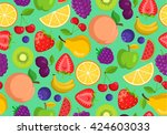 vegetables and fruits. seamless ... | Shutterstock .eps vector #424603033