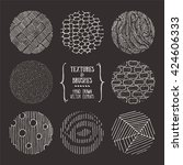hand drawn textures and brushes.... | Shutterstock .eps vector #424606333