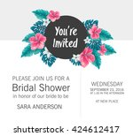 bridal shower invitation... | Shutterstock .eps vector #424612417