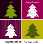 collection cards for new year... | Shutterstock .eps vector #42461365