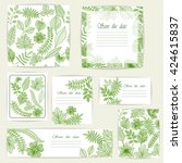 set beautiful cards and... | Shutterstock .eps vector #424615837